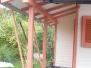 Arbeit zu einem Gartenhaus mit Farbtönen